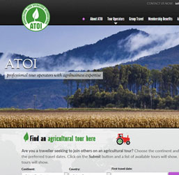 Intrenational Agro Tours Website design
