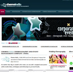 Choreography Event Management Website design
