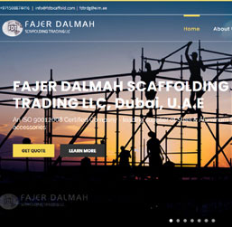 Scaffolding Company Dubai Website design