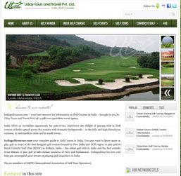 Delhi Golf Tour Operator Website design