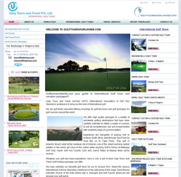 Intrenational Golf Tours Website design