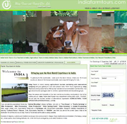 India Farm Tours Website design