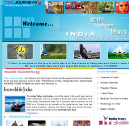 India Tour Operator Website design