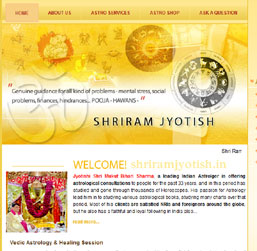 Astrologer Website design